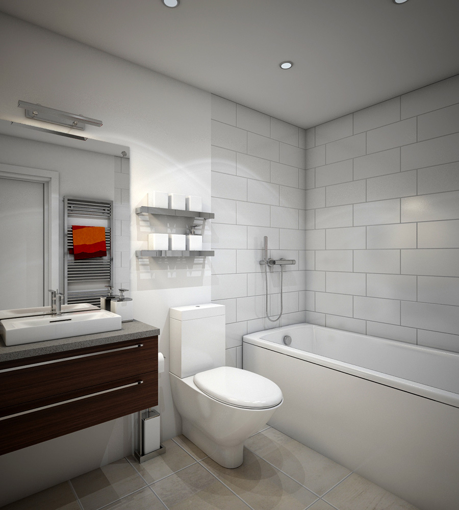 Modern Bathroom, Design By Toodor Studio Montreal
